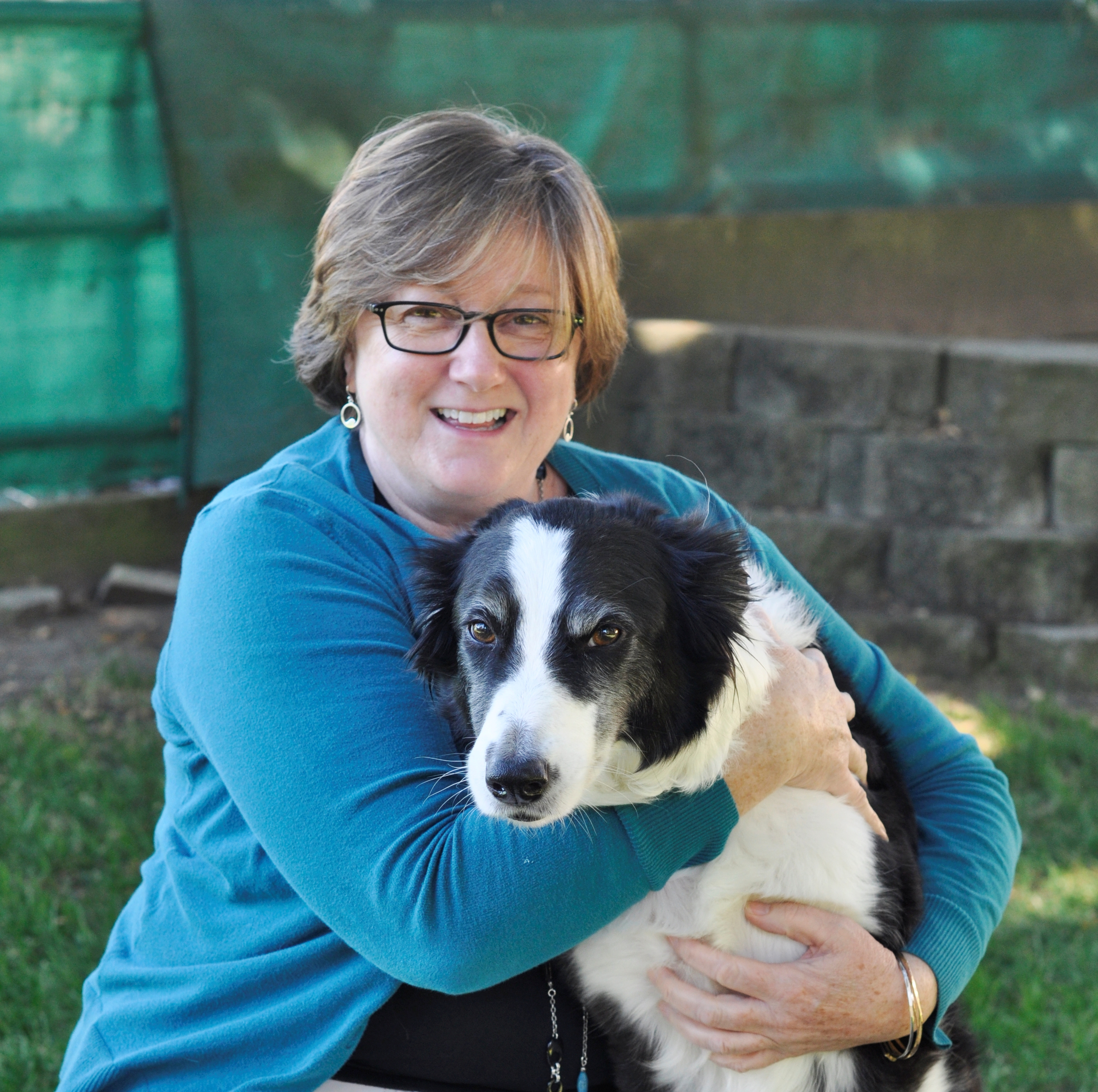 Ms. Blackman and her therapy dog, Duncan, Photo Credit: Kristin Herrara