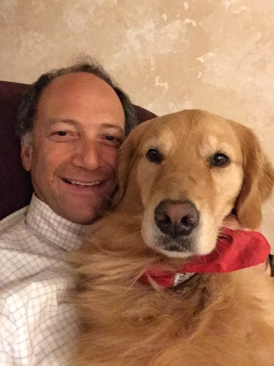 Dr. Paul Weiss and therapy dog Brooke