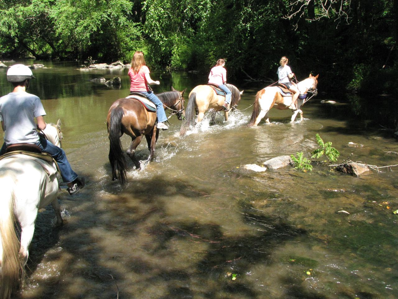 Wildfire Ranch Visitors Enjoy a Trail Ride
