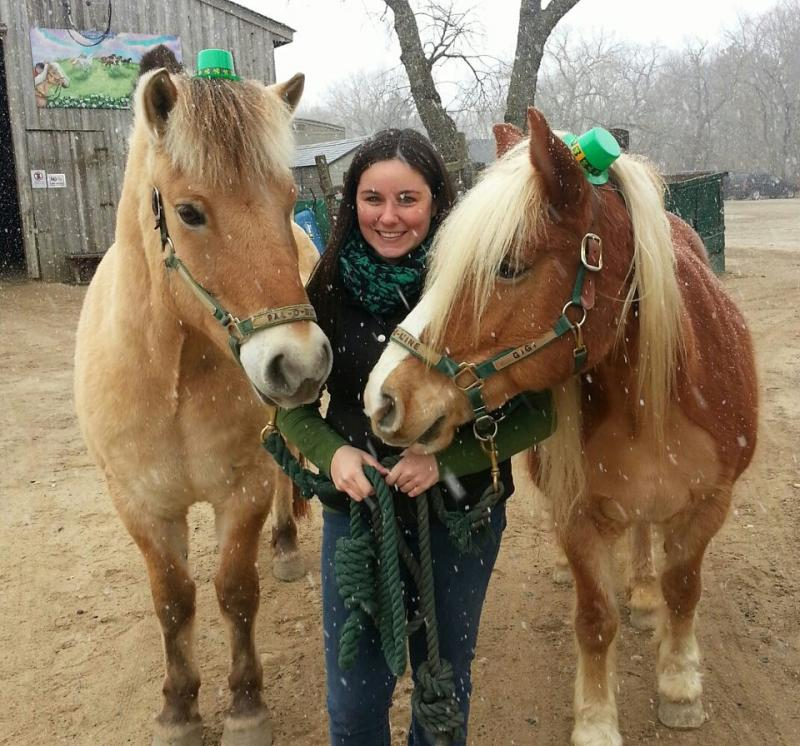 Tina Rocco & horses she uses as part of Speech Language Pathology in Motion